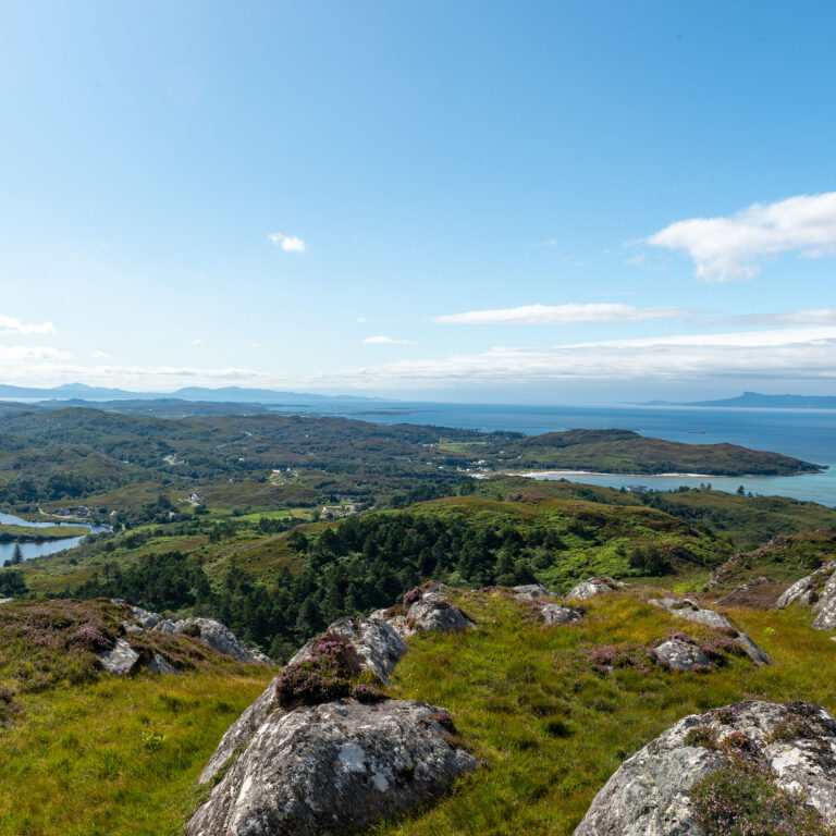 Looking to Morar from the hlls behind the house