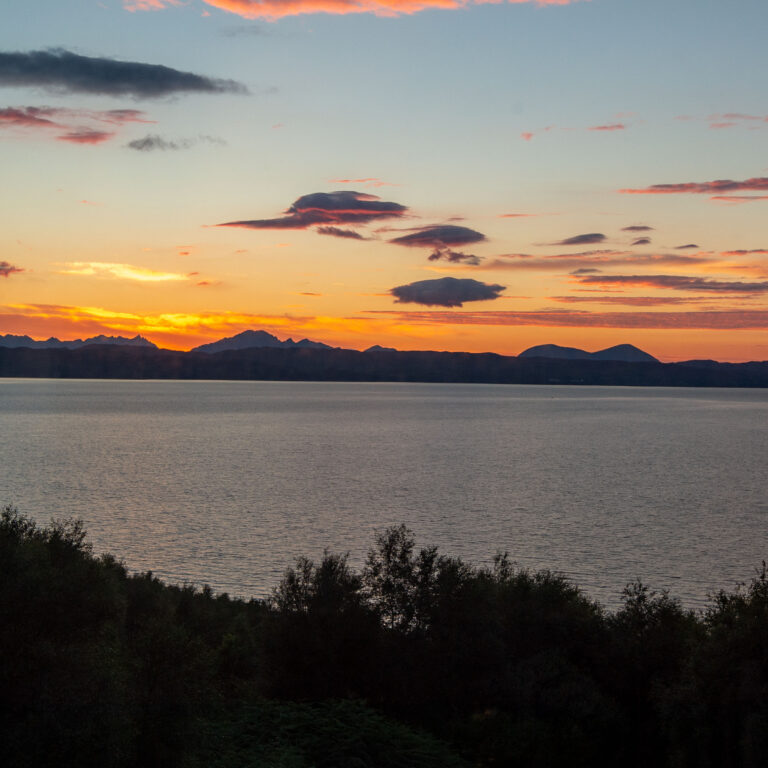 View of the Cuillins from the house